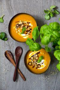 Kürbissuppe mit Einlage