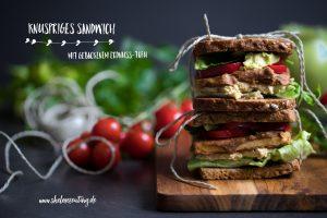 Veganes Sandwich mit Erdnuss-Tofu