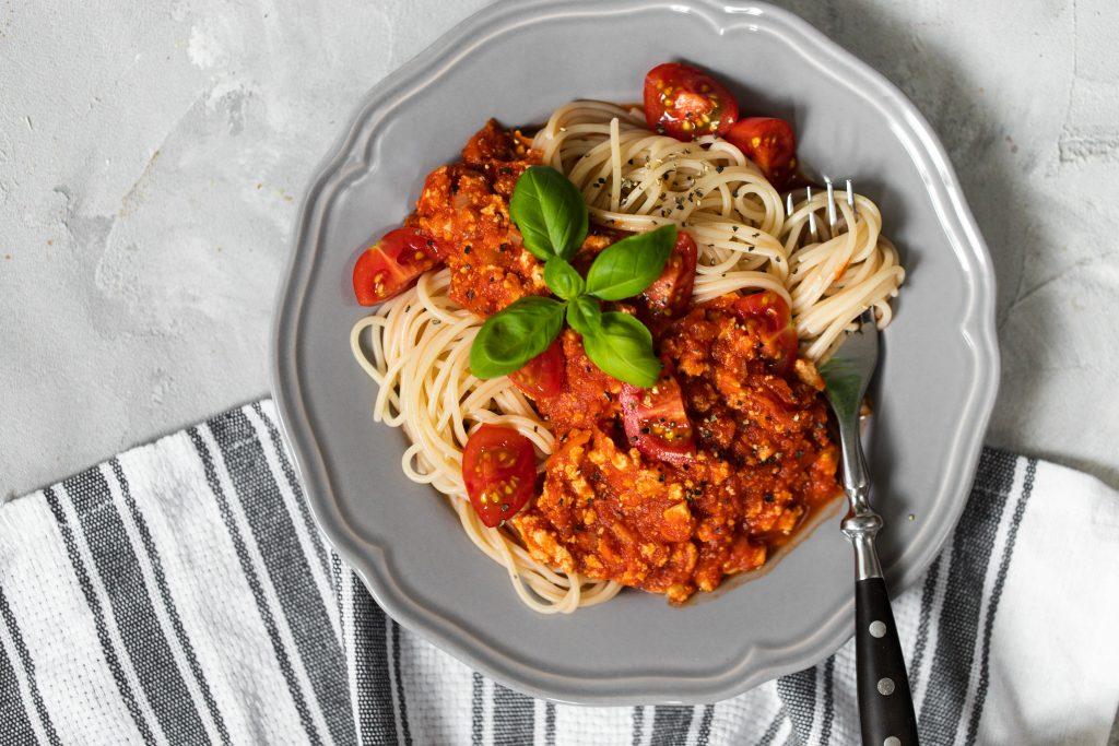 Pasta mit Bolognese vegan