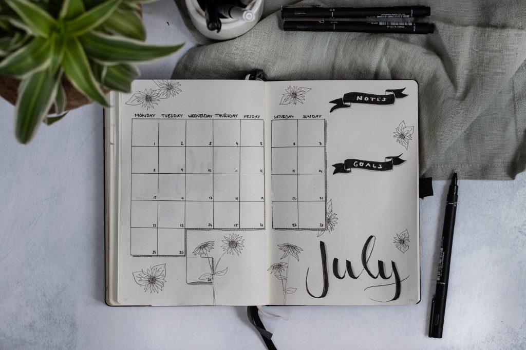 Bullet Journaling im Juli