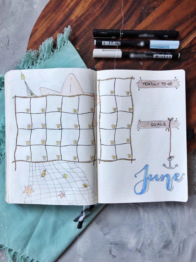 Juni Bullet Journaling