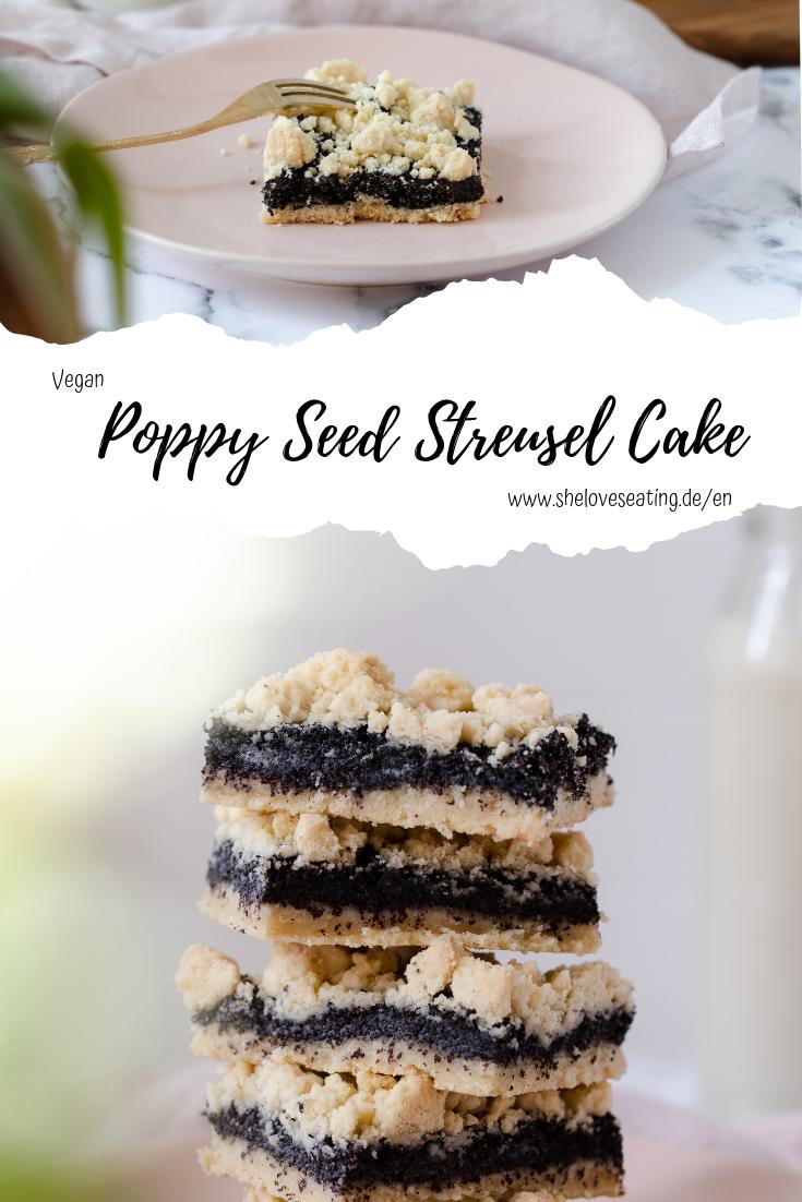 Poppy Seed Streusel Cake
