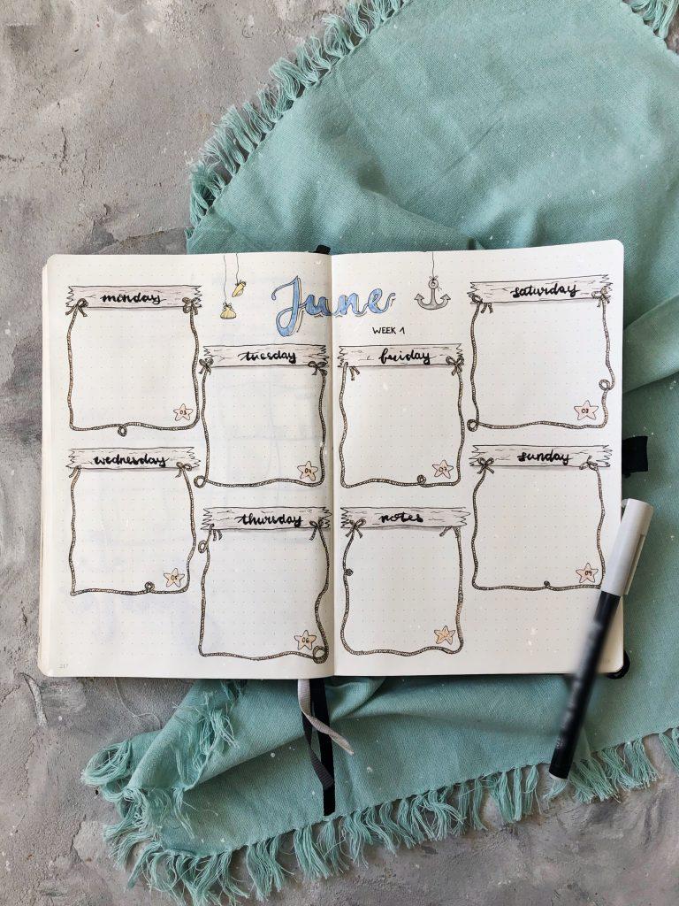 Bullet Journaling Wochenübersicht