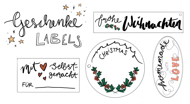 Geschenke Labels zum Ausdrucken