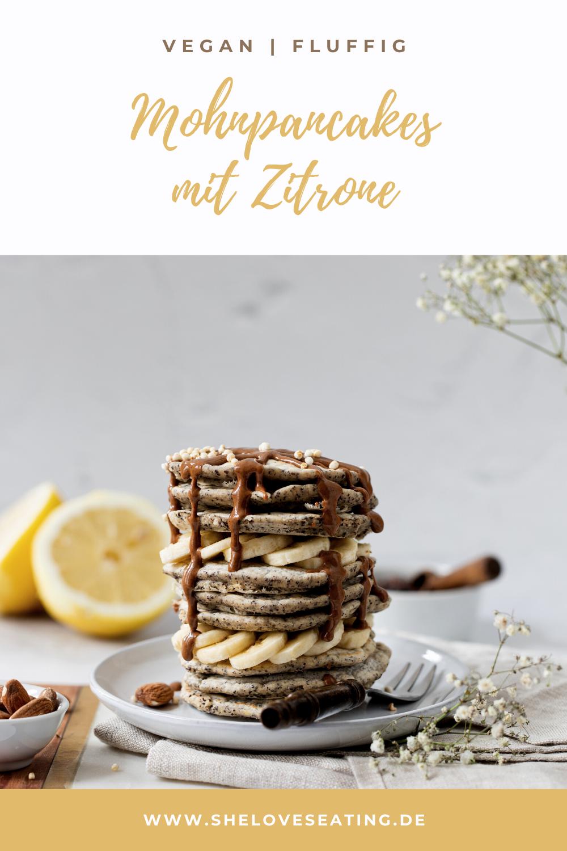Vegane Mohnpancakes mit Zitrone und Mandelmus