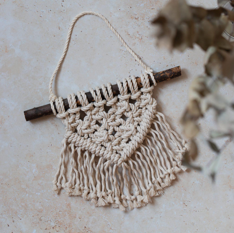 Mini-Makramee Wandbehang